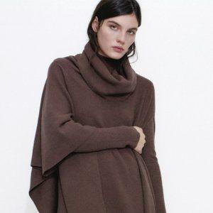 Zara Asymmetric Knit Cape
